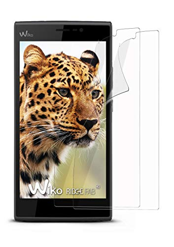 moex 2X Wiko Ridge Fab 4G | Schutzfolie Klar Bildschirm Schutz [Crystal-Clear] Screen Protector Display Handy-Folie Dünn Bildschirmschutz-Folie für Wiko Ridge Fab 4G Bildschirmfolie