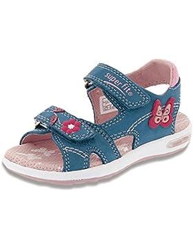Superfit - Zapatos de cordones de Piel para niña azul azul