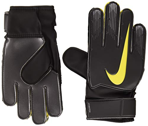 Nike Kinder NK GK Match JR-FA18 Soccer Gloves, White/Black/MTLC Vivid Gold, 8