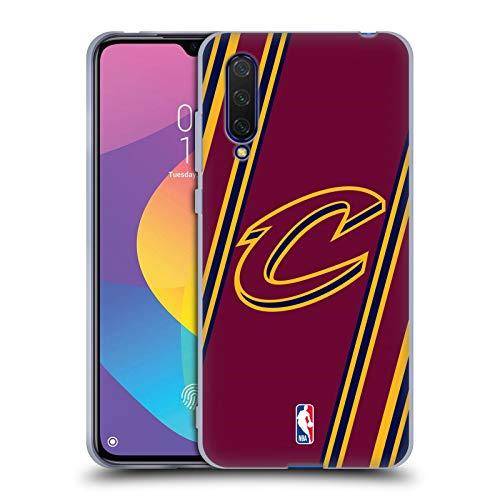 Head Case Designs Offizielle NBA Streifen Cleveland Cavaliers Soft Gel Huelle kompatibel mit Xiaomi Mi 9 Lite -