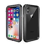 Custodia Impermeabile iPhone X, Cover iPhone XS, IP68 Certificato Antiurto Subacquea Caso Full Protezione Case Protettiva Waterproof Cover per iPhone X/XS (5.8 inch) - Nero