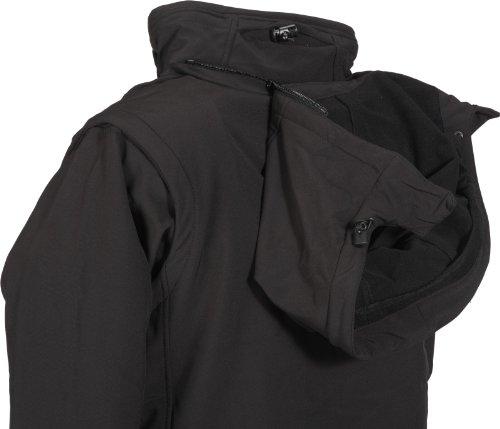 Fifty Five Damen-Softshell-Jacke OutdoorJacke mit Kapuze- Whistler - Funktionsjacke Winddicht Atmungsaktiv Schwarz