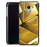 DeinDesign Hülle kompatibel mit Samsung Galaxy J6 Duos 2018 Handyhülle Case Goldbarren Gold Barren