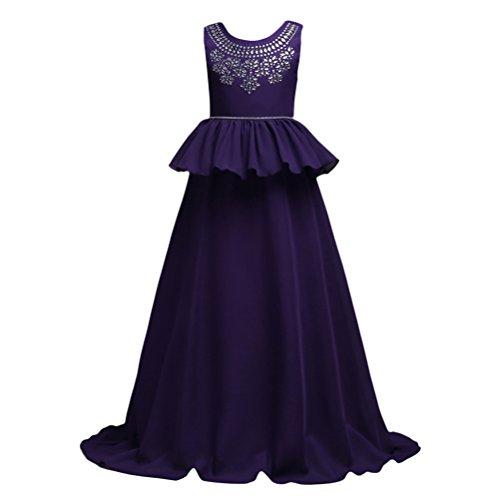 Zhuhaitf Girls Formal Wedding Bridesmaid Party Christening Dress Kids Chiffon Dress Princess (Wedding Plus Size Dresses)