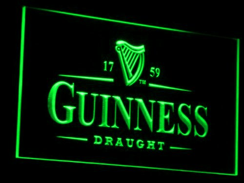 guinness-draught-caracteres-publicite-neonschild-led-vert