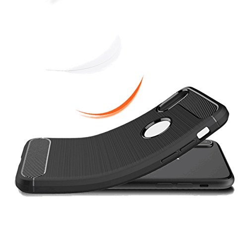 iPhone x custodia, Hengling pellicola protettiva in vetro, gomma antiurto assorbente Drop Proof, proteggi schermo in vetro temperato + custodia per Apple iPhone x