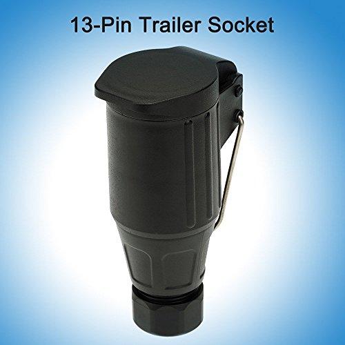 KKmoon-Matt-materiell-13-polig-Trailer-Sockel-12V-13-polig-Tow-Bar-Schleppendes-Buchse-N-Typ-Fahrzeug-Ende-mit-Haken