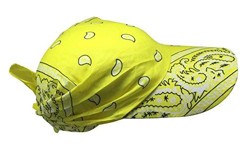 Preisvergleich Produktbild Sonnenschirm Cap mit gelbem Paisley Muster