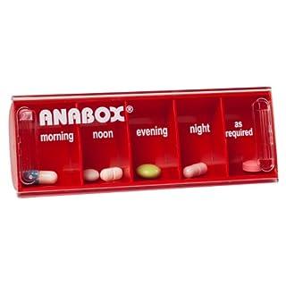 Anabox Daily Pillbox Red