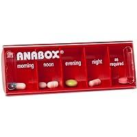 Anabox Tablettendose für 1 Tag, Rot preisvergleich bei billige-tabletten.eu