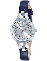 Sonata Steel Daisies Analog Silver Dial Women's Watch NL8151SL01 / NL8151SL01