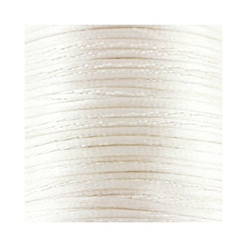 1mm weiß Satin Schnur (Rattail) Länge 5Meter (Rattail Schnur)