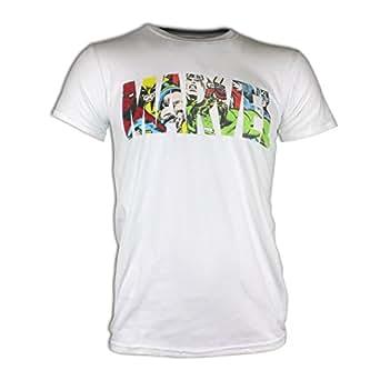 Character Marvel Comics - T-Shirt à Manches Courtes - Homme - Marvel Logo - XXlarge