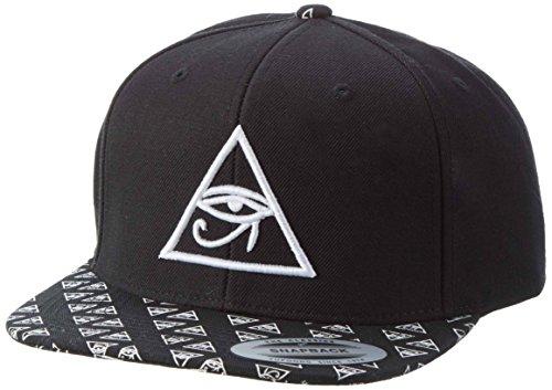 Mister Tee Jungen Horus Eye Logo Snapback, Black, one size