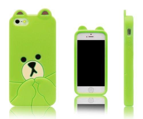Xcessor Bear Custodia in Silicone per Apple iPhone SE / 5S / 5. Verde