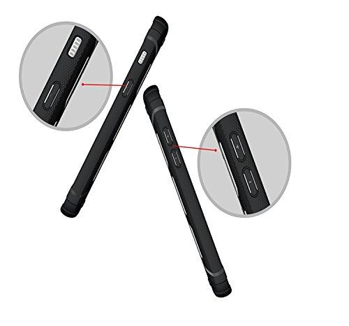 YHUISEN Galaxy A3 2017 Case, Cool Shockproof Rüstung Hybrid 2 In1 TPU und PC Rugged Dual Layer mit Kickstand Fall für Samsung Galaxy A3 2017 A320 ( Color : White ) White