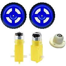 OLatus OL-ROBO-KIT-03 2X Dual Shaft Bo Motor and 2X Wheels and 1X Castor Wheel Kit