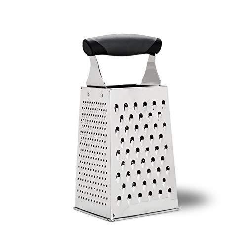 Ylovow grattugia professionale per scatole, in acciaio inox con 4 lati, ideale per formaggio, verdure, zenzero, affettatrice per verdure di alta qualità