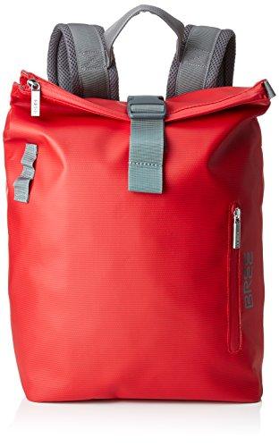 BREE Unisex-Erwachsene Punch 712, Red, Backpack S Rucksack, Rot, 42x15x34 cm