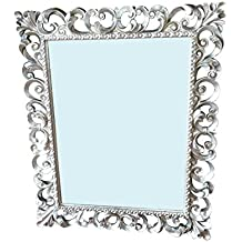 Art.N.184b Specchiera Barocca In Foglia Argento