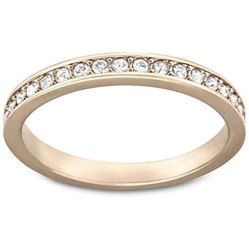 Swarovski Anello da donna Rare, parzialmente placcato oro con vetro bianco 5032899, lega metallica, 11, colore: Oro rosa, cod. 5032899