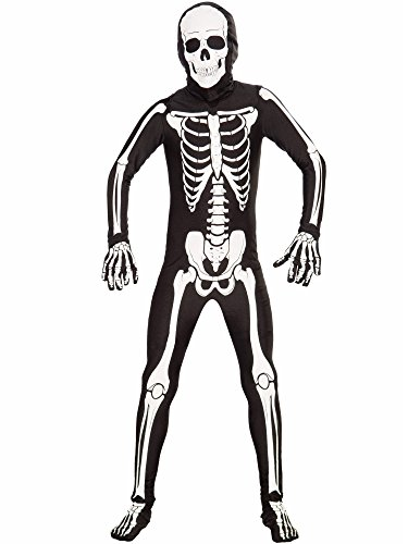 Forum Novelties I'm Invisible Costume Stretch Body Suit, Skeleton, Child (Invisible Kid Kostüm)