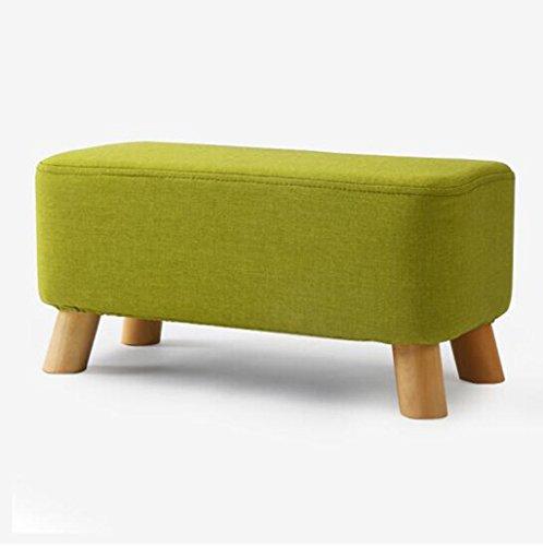 tabouret en bois Tabouret en bois massif de quatre pieds/strass carré de tissu, tabouret de canapé de tabouret de chaussure (Couleur : #3)