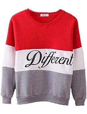 Felpa Donna Elegante Da Cerimonia Invernali Manica Lunga Pullover Sweatshirt Asimmetrico Vintage Allentato Lunghi...