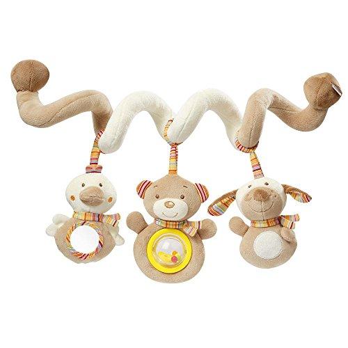 -Spirale Rainbow / Stoff-Spirale zum Greifen und Fühlen für Bett, Kinderwagen, Laufgitter anpassbar / Für Babys und Kleinkinder ab 0+ Monaten / Maße: 30 cm lang ()