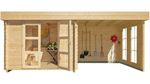 luoman-set-gartenhaus-lillevilla-485-ecolounge-bxt-200x200-cm-mit-anbau-200-cm-breit-rueckwand-natur-3