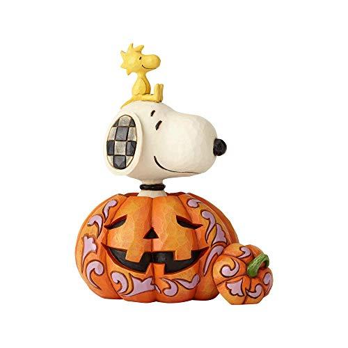 ENESCO Snoopy Woodstock in Pumpkin Figurine Standard