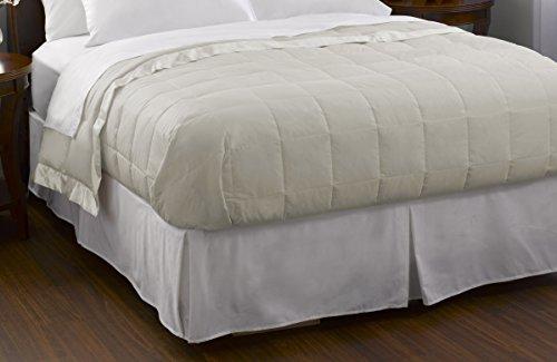 Pacific Coast Feather Company Baumwolle Bezug mit Satin Bordüre Hypoallergen Daunen Decke, cremefarben, King Size