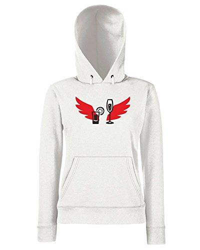 T-Shirtshock - Sweats a capuche Femme BEER0195 Cocktail-Magliette Blanc