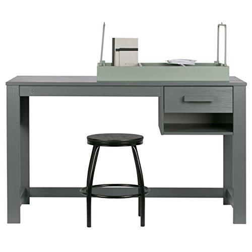 Alfred & Compagnie Bureau 125x75 1 tiroir Aaron Gris Acier