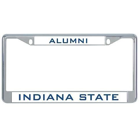 IMG Indiana State Metal License Plate Frame in Chrome Alumni