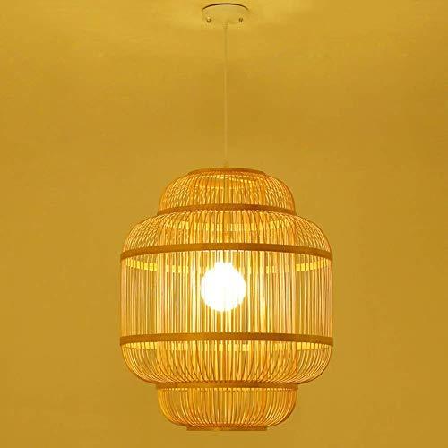 Raelf Nordic Minimalist Deckenleuchte, Land-Art handgemachter Rattan-Lampe Handgefertigte Bambus Light Deckenleuchte E27 / E26 Bambus-Lampe for Schlafzimmer Wohnzimmer Büro Ø45cm (Größe : 45cm)