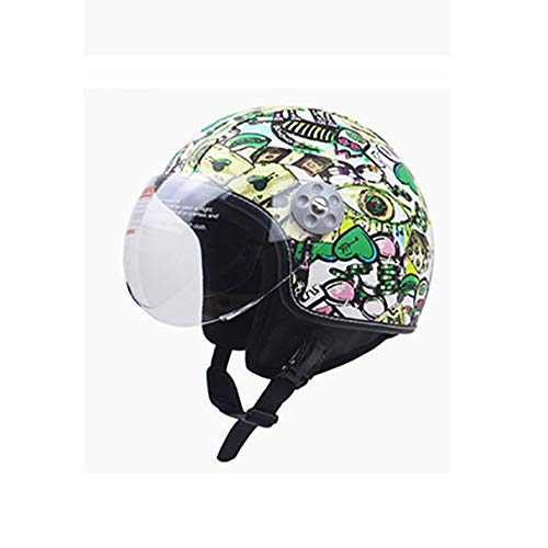 PQ&D Motorrad Four Seasons Open Helm, Dot zertifizierter Motocross Mountain Classic Air Force Graffiti Cooler Integralhelm,White,XL (Helm Air Force)