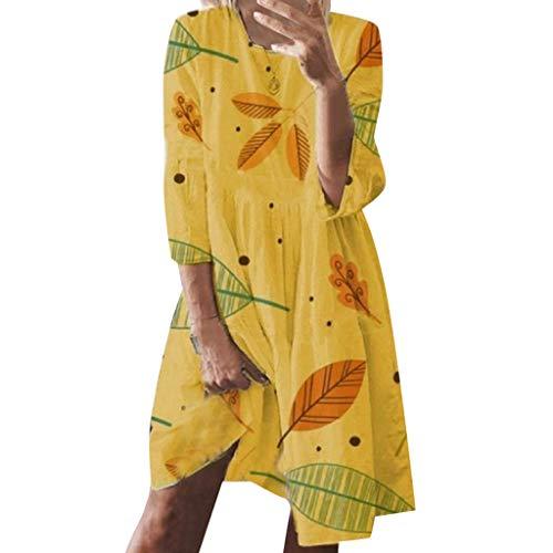Tunika Shirt Kleid Damen Boho Kleid Tops Kurzarm Rundhals T-Shirt Kleider Mexikanische Blusekleider Lose Casual Swing Kleid Strandkleid Minikleid A-Linie Sommerkleid große größen Mini Satin Cocktail-kleid