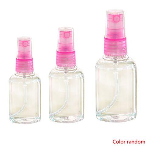 Fgyhtyjuu 3pcs 30ml 50ml 100ml Botella de Perfume Recargable portátil de plástico...