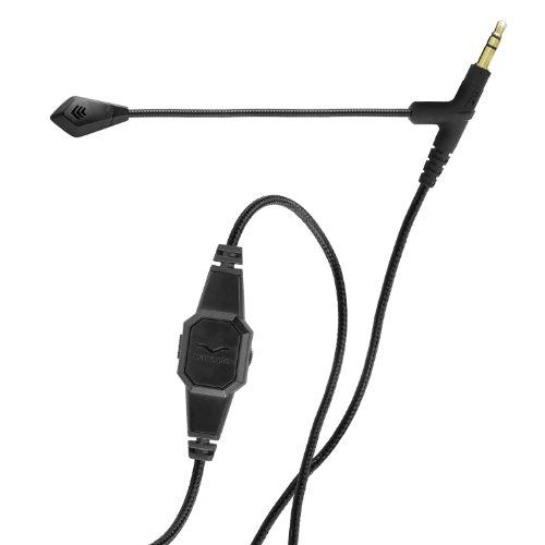 V-Moda BoomPro Mikrofon, C-BP-BLACK, für Computerspiele / Internettelefonie, Schwarz