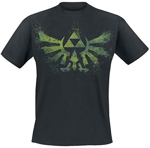 Preisvergleich Produktbild Bioworld Nintendo Zelda T-Shirt schwarz mit gruenem Druck Groesse L