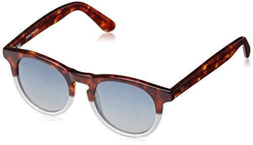 Wolfnoir-Unisex-Sonnenbrille-Hathi-Bicome-Stripes-Mehrfarbig-Carey-MarrnBlancoAzul-Degradado-One-size