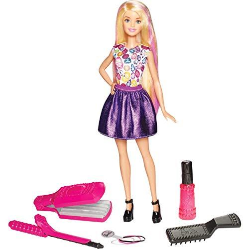 Barbie Muñeca Ondas y rizos , muñeca para peinar (Mattel DWK49)