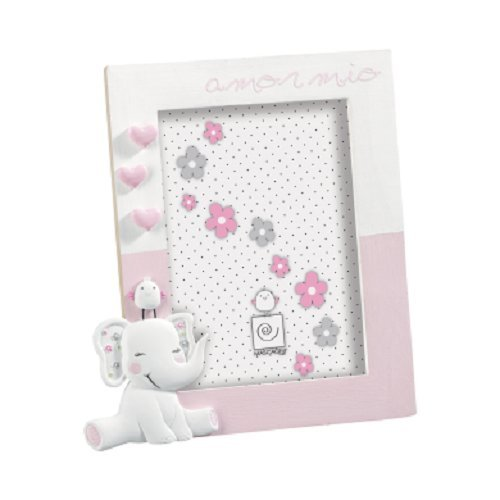 Mascagni A726 Pink, White Single Picture Frame – Picture Frames (Wood, Resin, Pink, White, Single Picture Frame, Table, Wall, 13 x 18 cm, Rectangular)