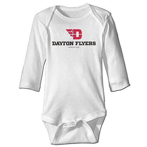 Huahai Funny Vintage Unisex University of Dayton Logo 5 Baby Onesie Baby Boy and Girl Vintage Baby Onesies