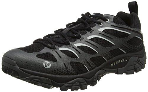 Merrell Herren Moab Edge Waterproof Trekking-& Wanderhalbschuhe, Schwarz (Black), 47 EU (Wasserdichte Schuhe Herren Merrell)