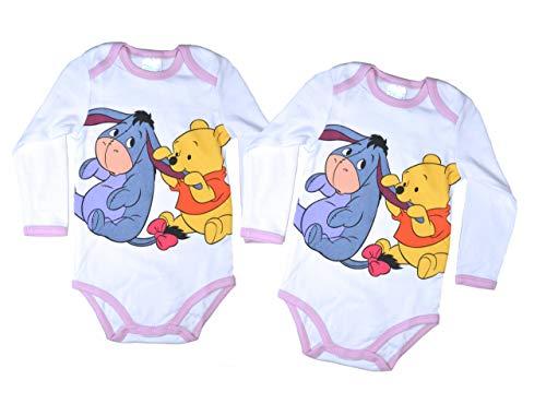 3af3a39462 2er Pack Esel Disney Baby Body Langarm Unisex Gr. 86/92 Verschiedene  Motivapplikationen Winnie