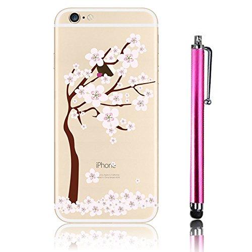 Cover iPhone 6, iPhone 6S Custodia (4.7), Bonice TPU trasparente Ultra Slim Thin 3D Case + Stilo Penna - Monkey & London model 14