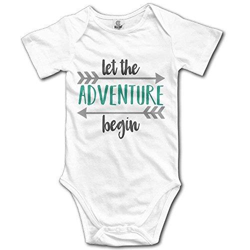 Pillow hats Let New Adventure Begin Newborn Infant Baby Clothes T-Shirt Baby Baby Short-Sleeve Bodysuit Baby Infant Bodysuit