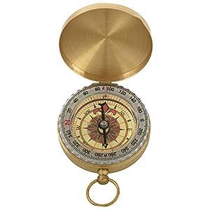 BKAUK Klassiker messinggelber Kompass mit ussehen wie Taschenuhr